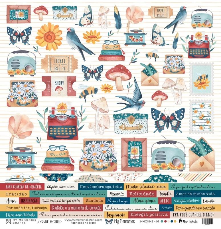 Papel Scrapbook My Memories MMCMM2-01 - My Memories Crafts