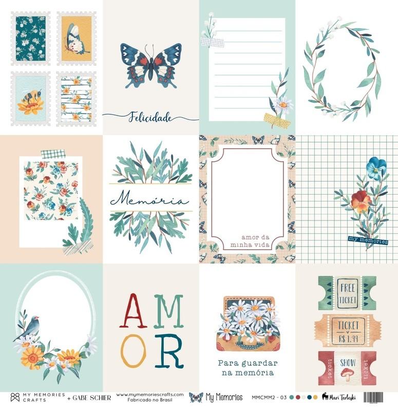 Papel Scrapbook My Memories MMCMM2-03 - My Memories Crafts
