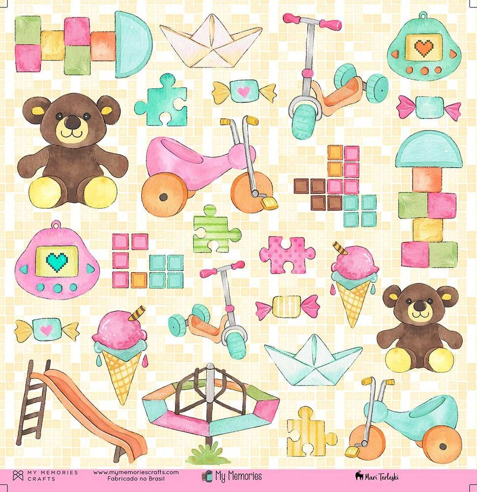 Papel Scrapbook My Memories My Toys MMCMM-03 - My Memories Crafts