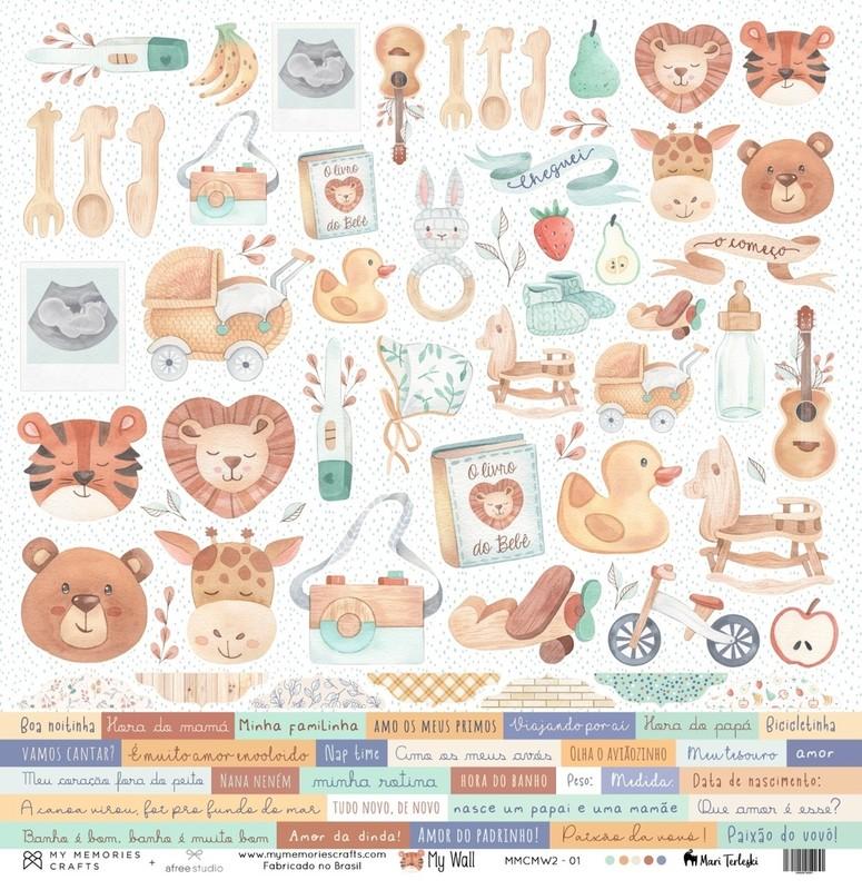 Papel Scrapbook My Wall MMCMW2-01 - My Memories Crafts