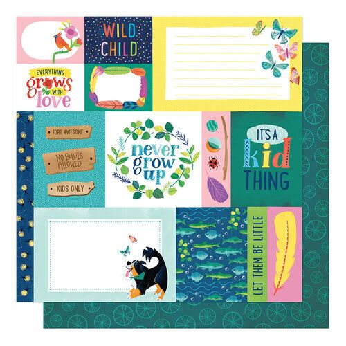 Papel Scrapbook Never Grow Up Forever Young - American Crafts