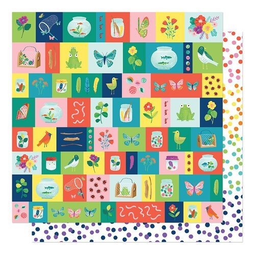Papel Scrapbook Never Grow Up Small Discoveries - American Crafts