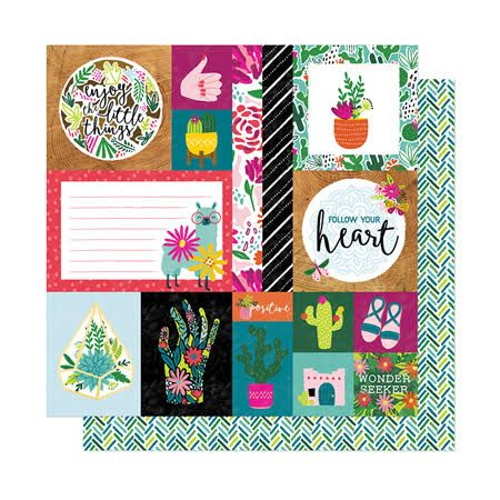 Papel Scrapbook New Day Kind Heart - American Crafts
