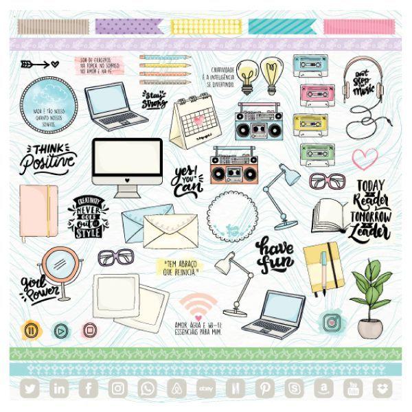Papel Scrapbook Nossa História Criatividade - Scrap Goodies