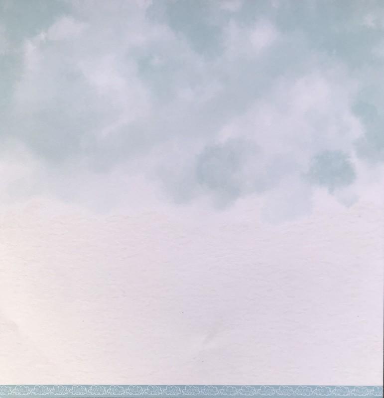 Papel Scrapbook Nuvem Básica Azul Claro PP224 - Scrap Goodies