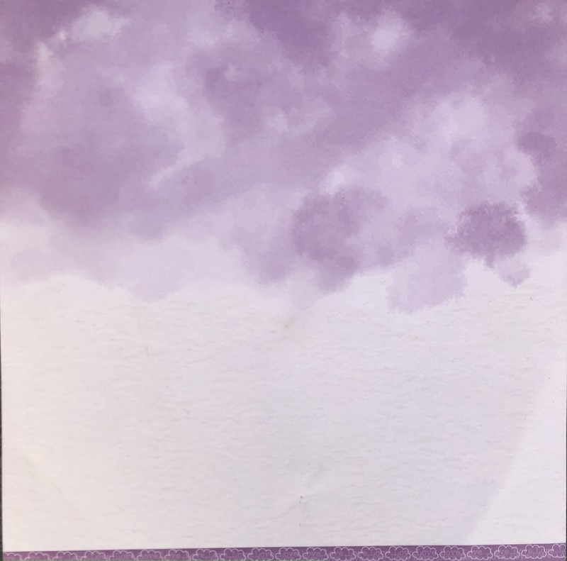Papel Scrapbook Nuvem Básica Lilás PP222 - Scrap Goodies