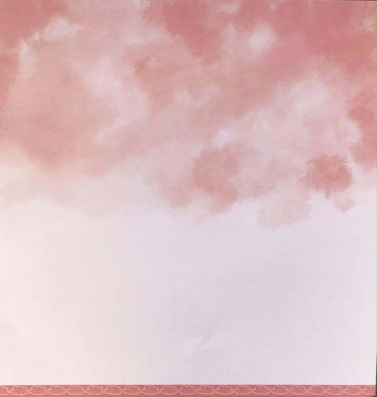 Papel Scrapbook Nuvem Básica Vermelho PP226 - Scrap Goodies