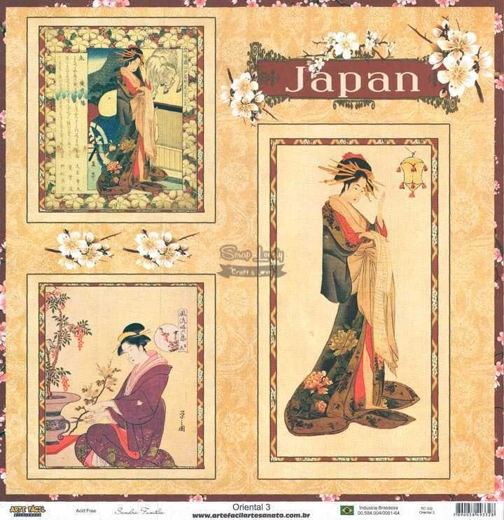 Papel Scrapbook Oriental 3 - Arte Fácil