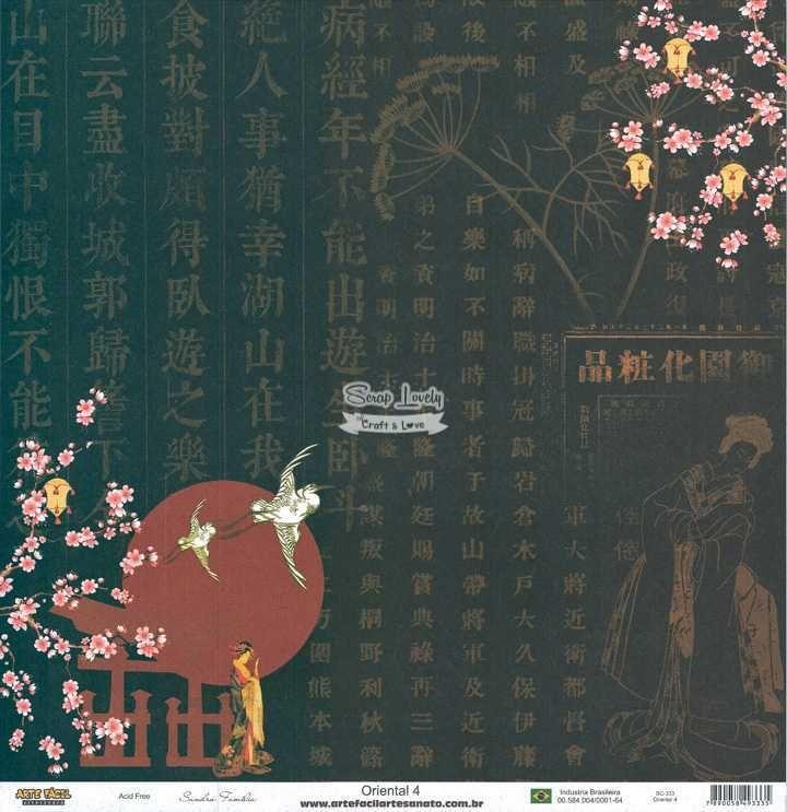 Papel Scrapbook Oriental 4 - Arte Fácil