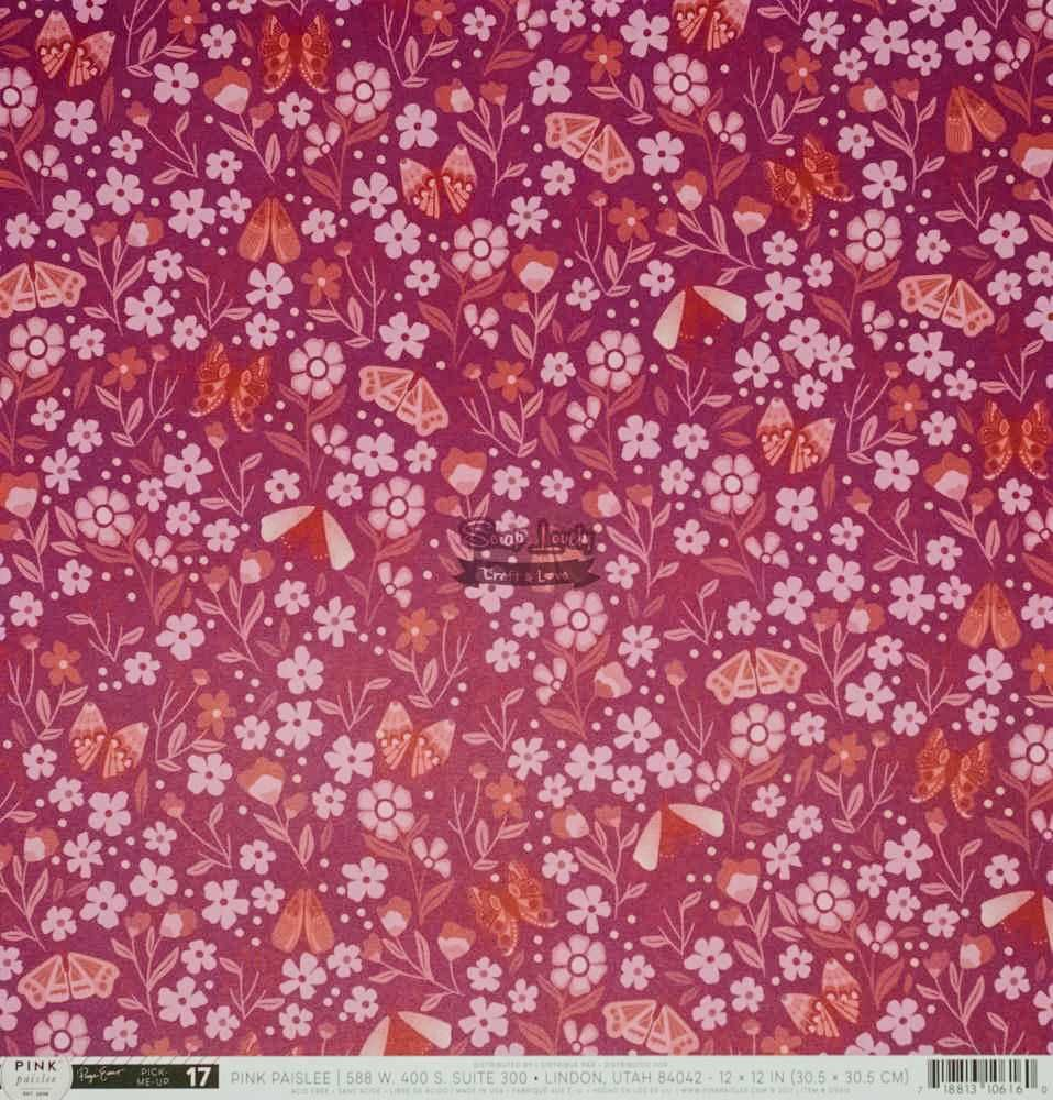 Papel Scrapbook Pick Me Up Paper 17 - Pink Paislee