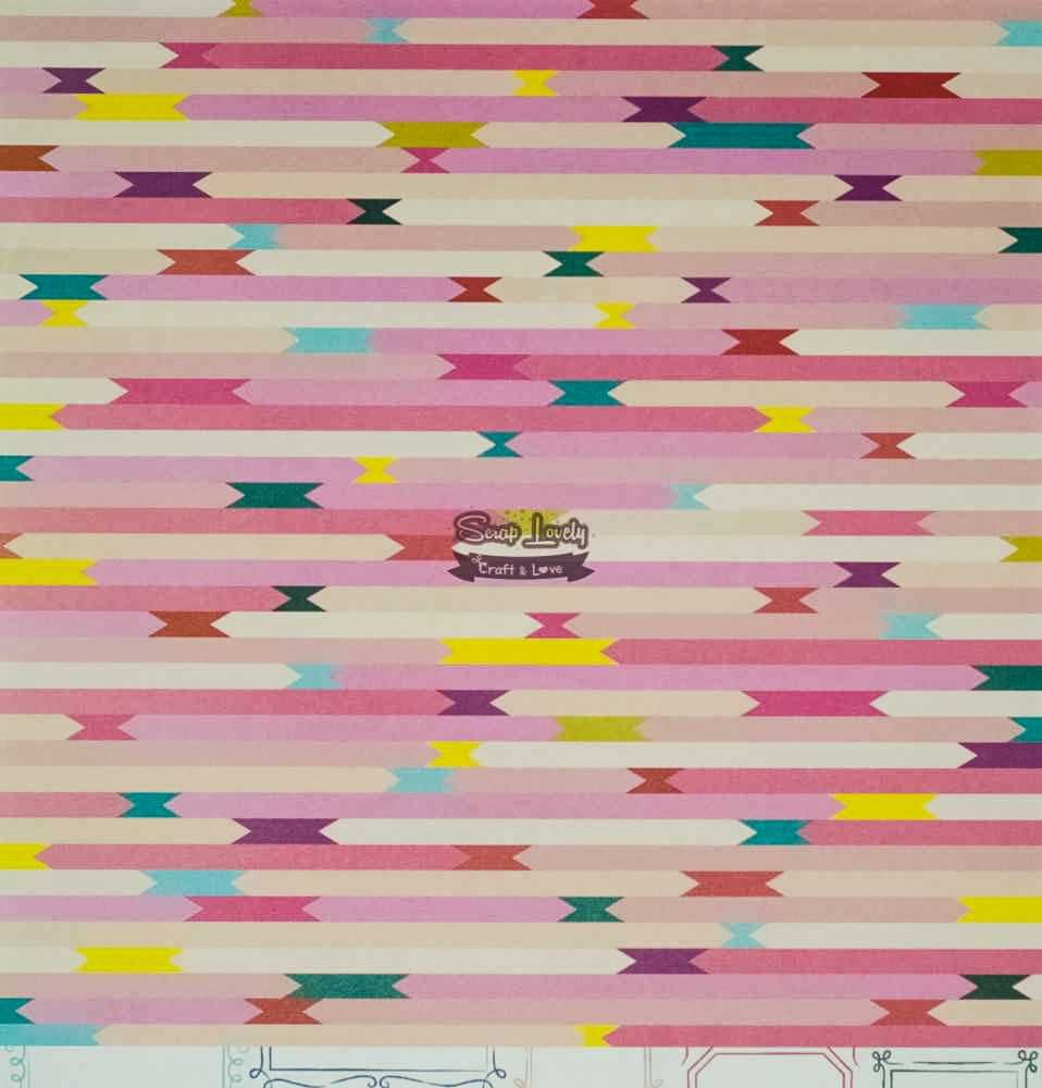 Papel Scrapbook Pick Me Up Paper 19 - Pink Paislee