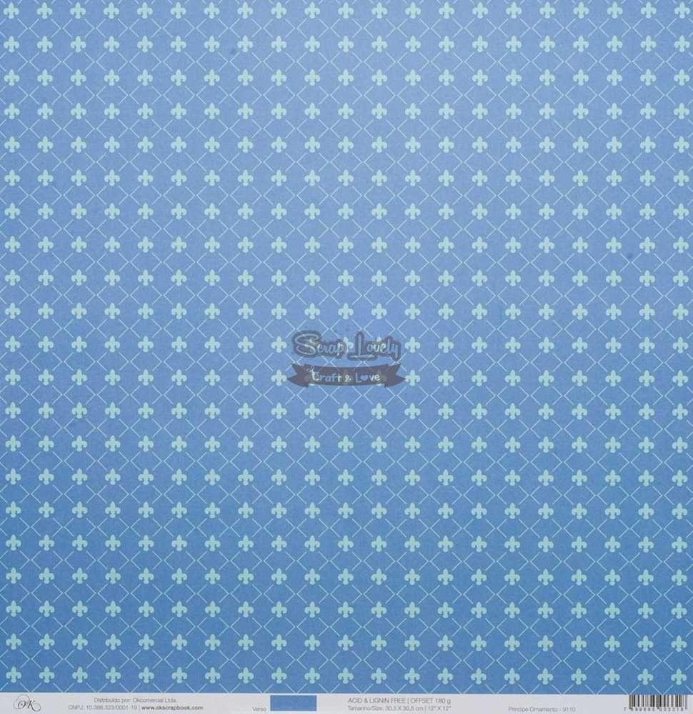 Papel Scrapbook Príncipes Ornamento - OK Scrapbook