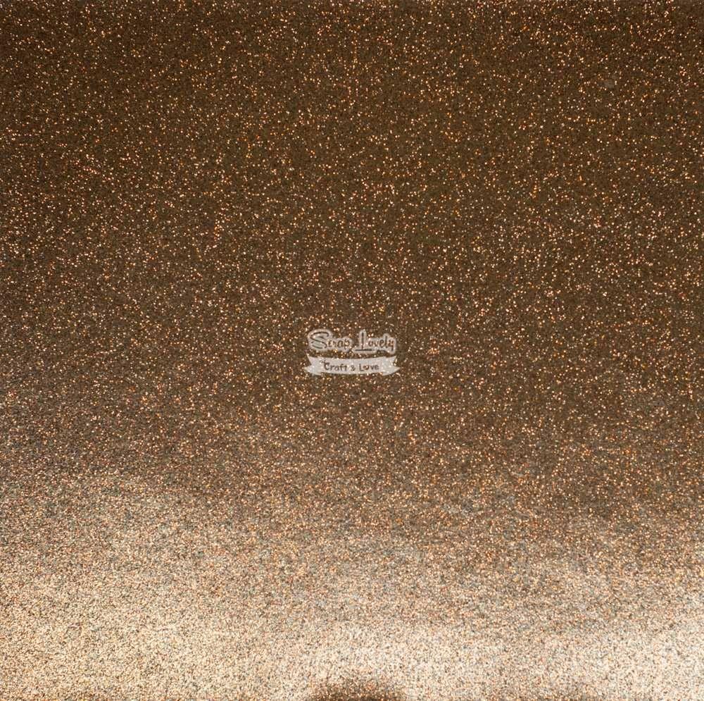 Papel Scrapbook Puro Glitter Marrom - Art e Montagem