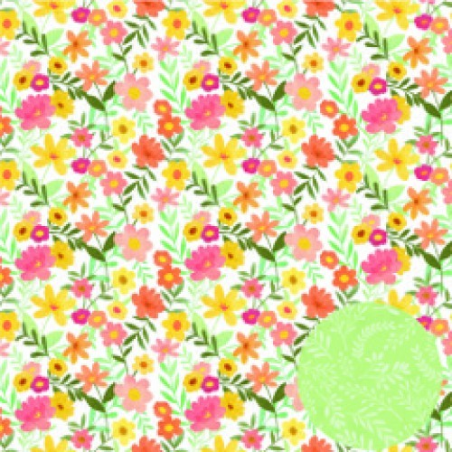 Papel Scrapbook Regando Flores Na Primavera - Oficina do Papel