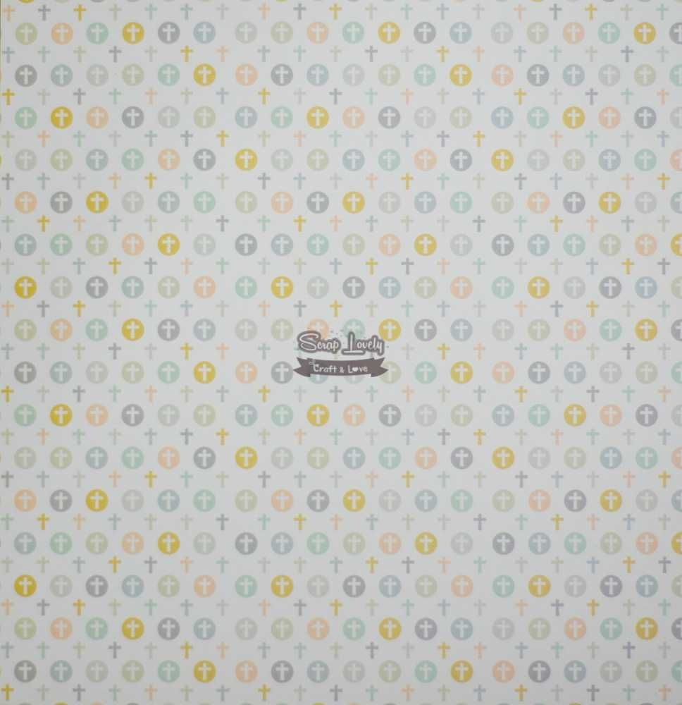 Papel Scrapbook Sacramentos Barras - Oficina do Papel