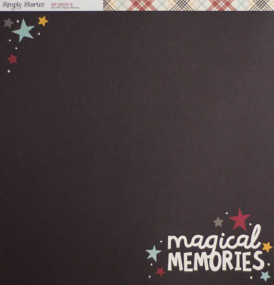 Papel Scrapbook Say Cheese III Magical Memories - Simple Stories
