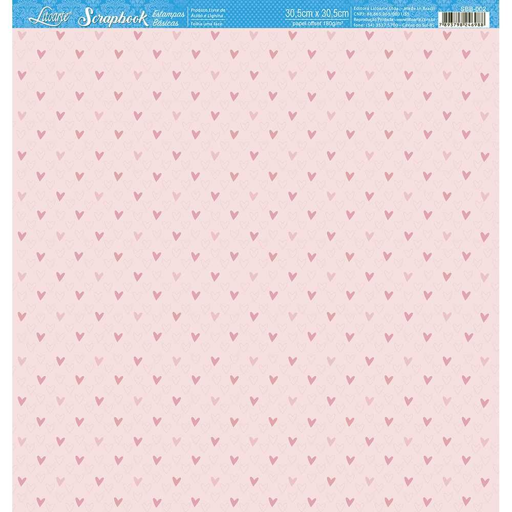 Papel Scrapbook SBB-002 - Litoarte