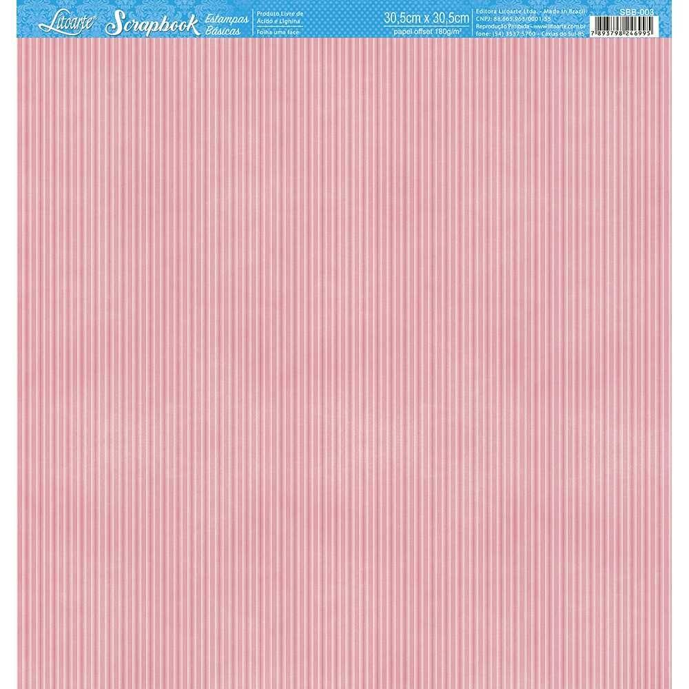Papel Scrapbook SBB-003 - Litoarte