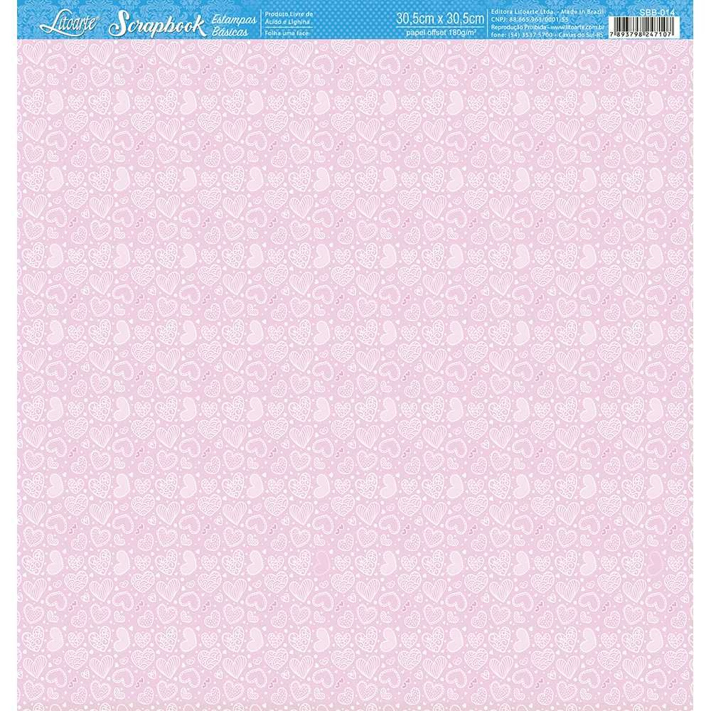 Papel Scrapbook SBB-014 - Litoarte