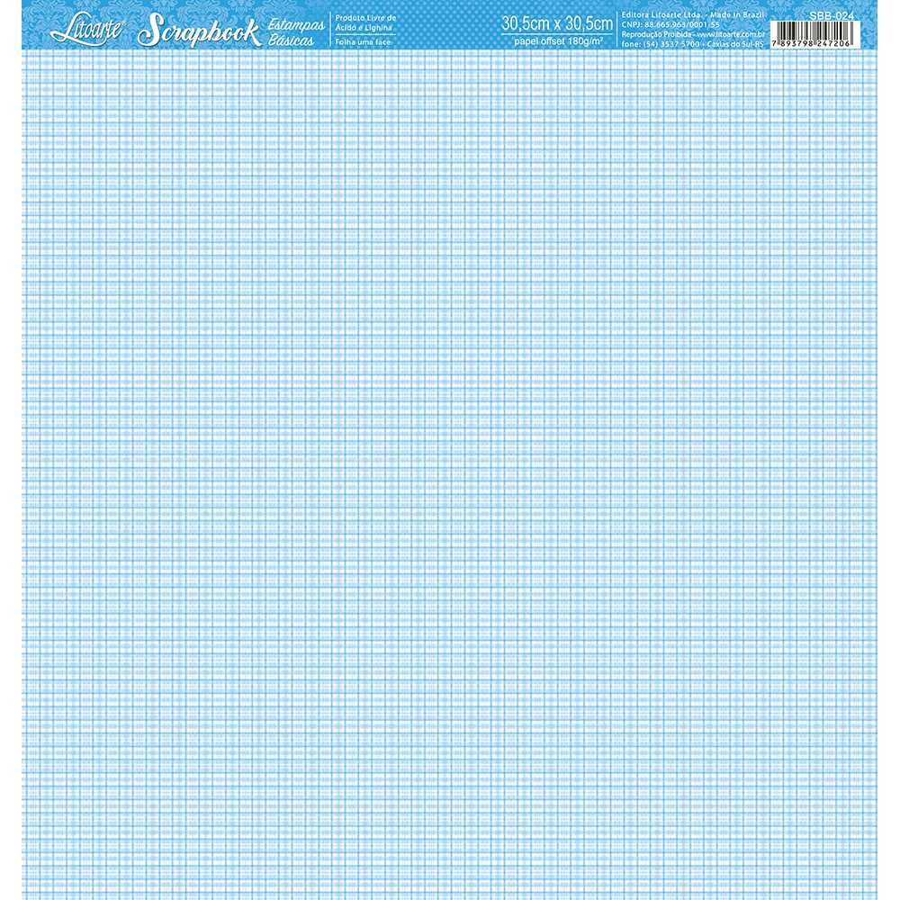 Papel Scrapbook SBB-024 - Litoarte