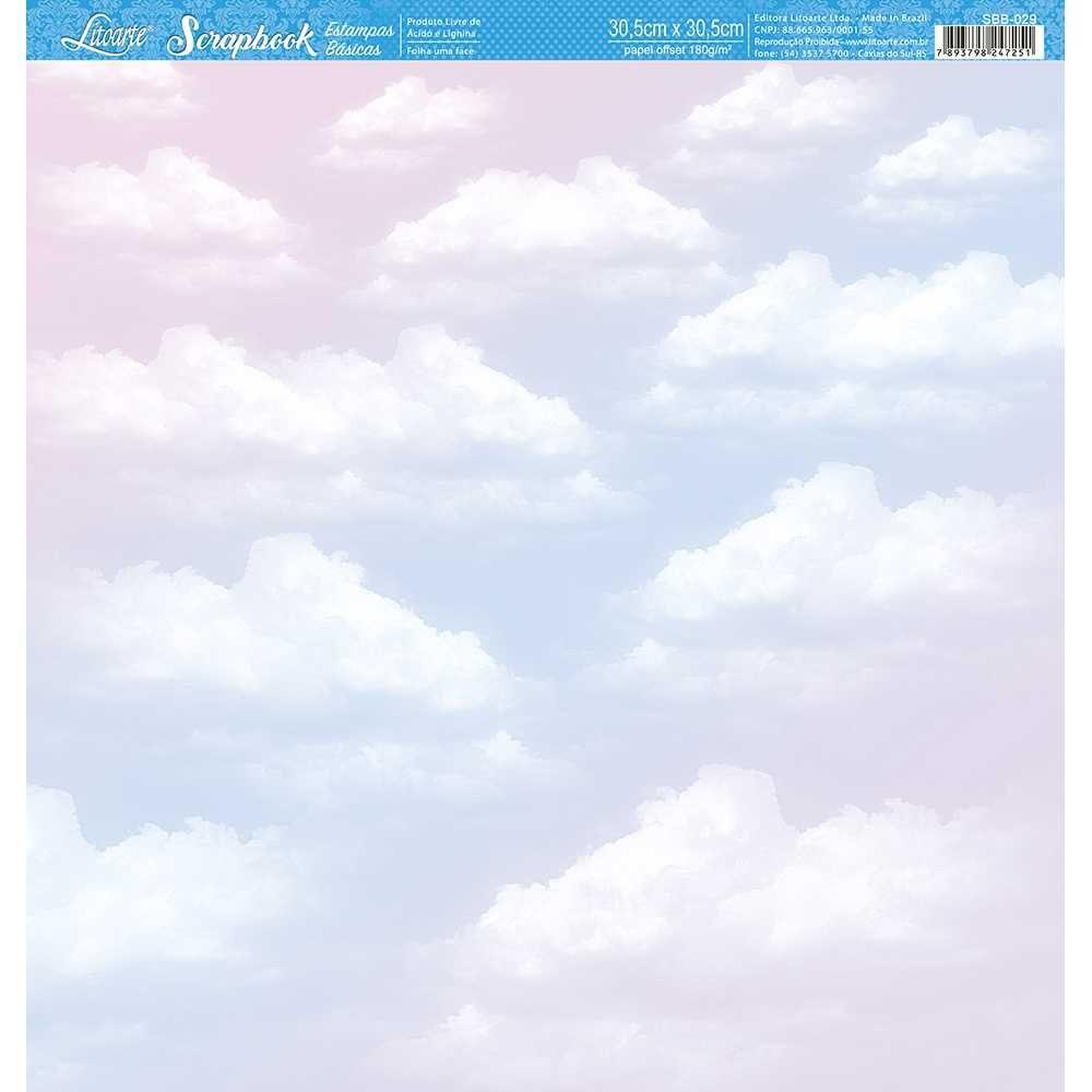 Papel Scrapbook SBB-029 - Litoarte