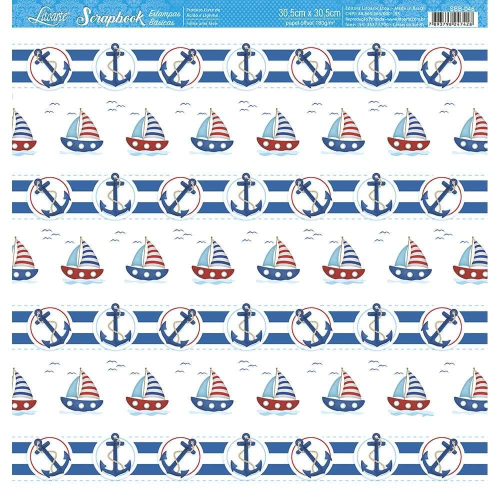 Papel Scrapbook SBB-046 - Litoarte