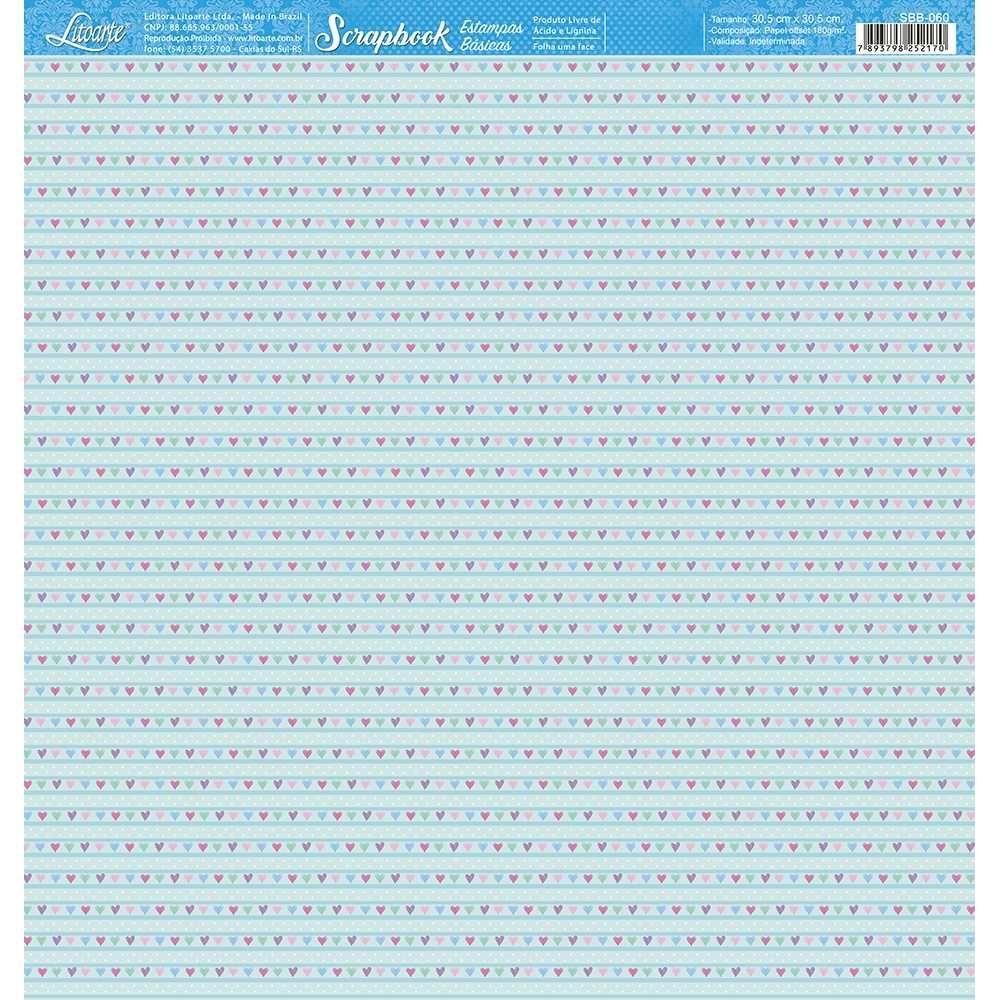 Papel Scrapbook SBB-060 - Litoarte