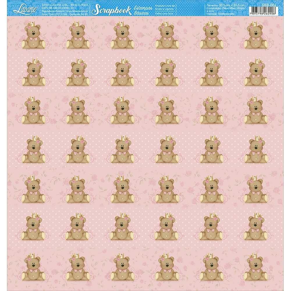 Papel Scrapbook SBB-082 - Litoarte