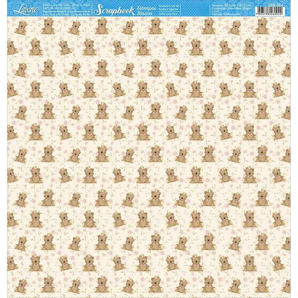 Papel Scrapbook SBB-084 - Litoarte