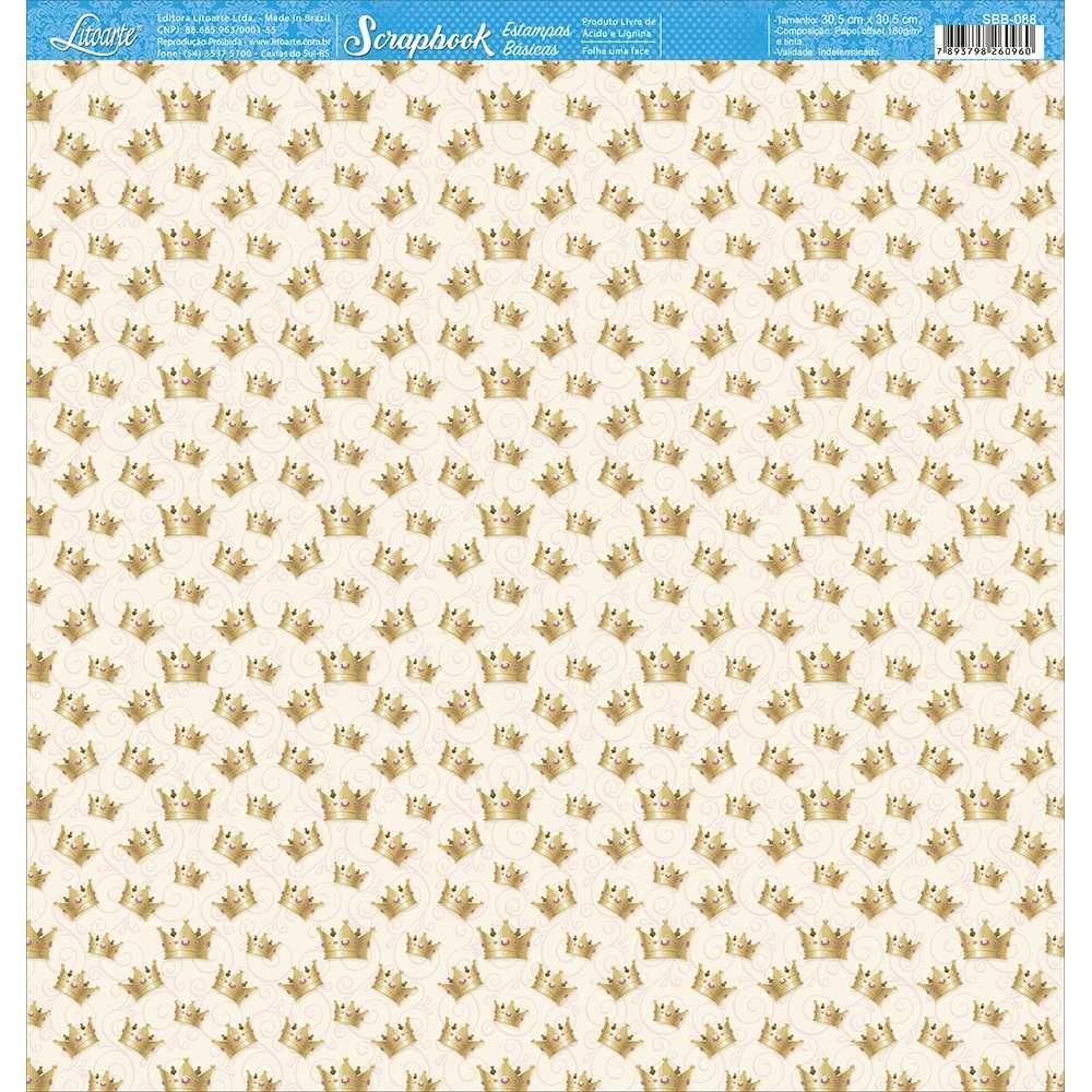 Papel Scrapbook SBB-088 - Litoarte