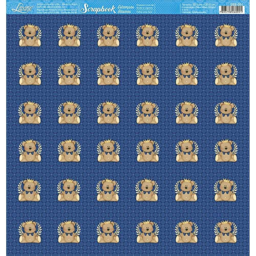 Papel Scrapbook SBB-091 - Litoarte