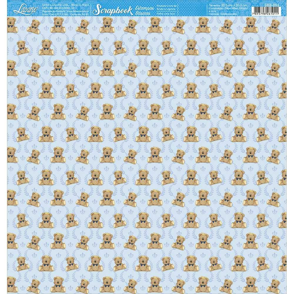 Papel Scrapbook SBB-093 - Litoarte