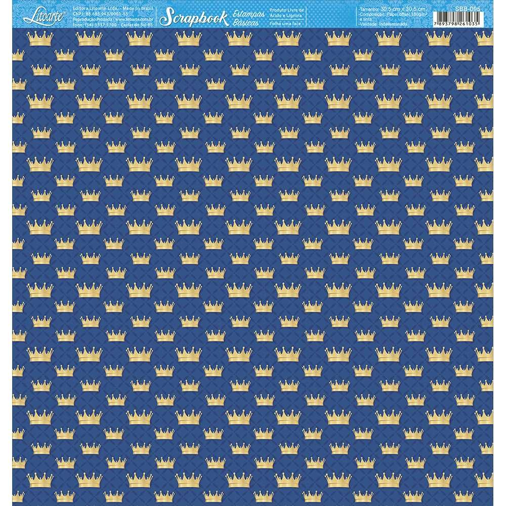 Papel Scrapbook SBB-095 - Litoarte