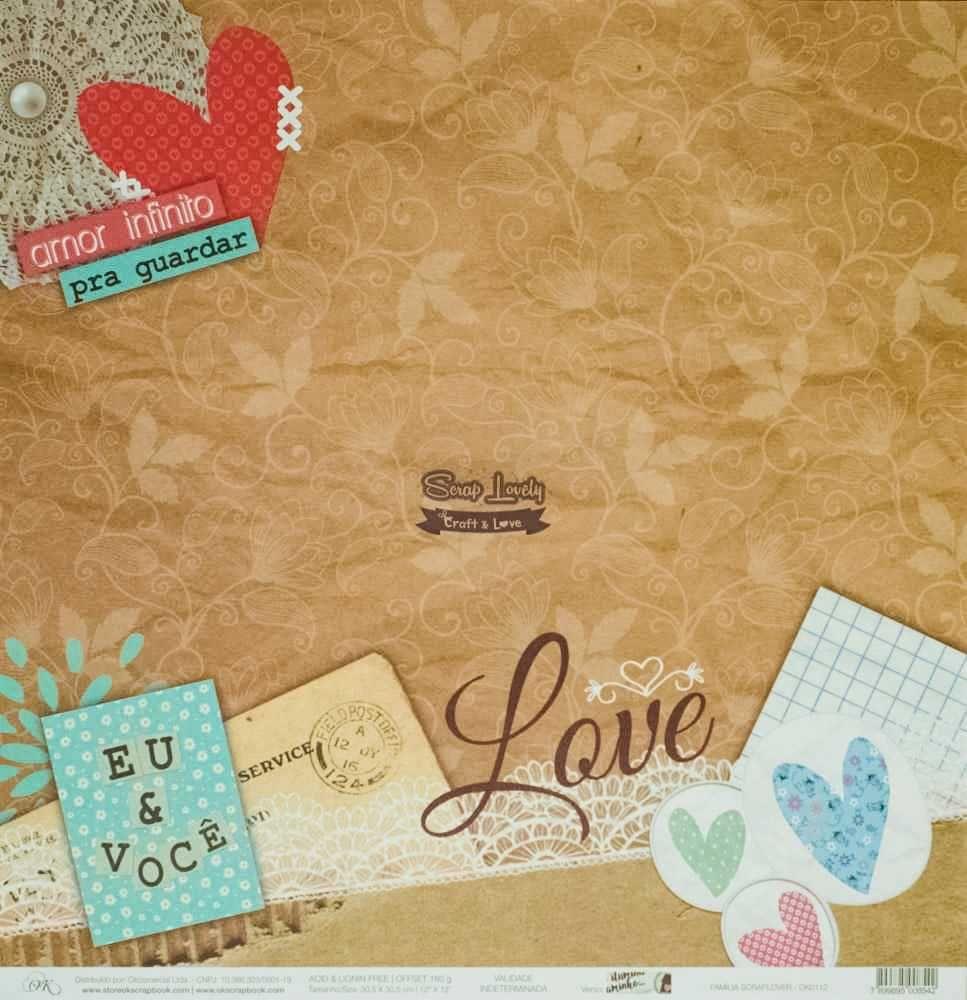 Papel Scrapbook Scraplover Família - OK Scrapbook