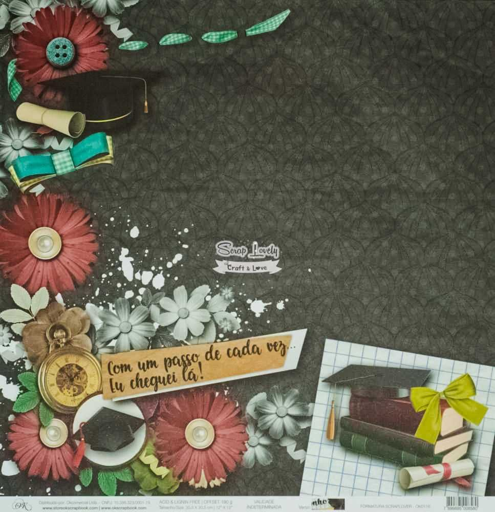 Papel Scrapbook Scraplover Formatura - OK Scrapbook