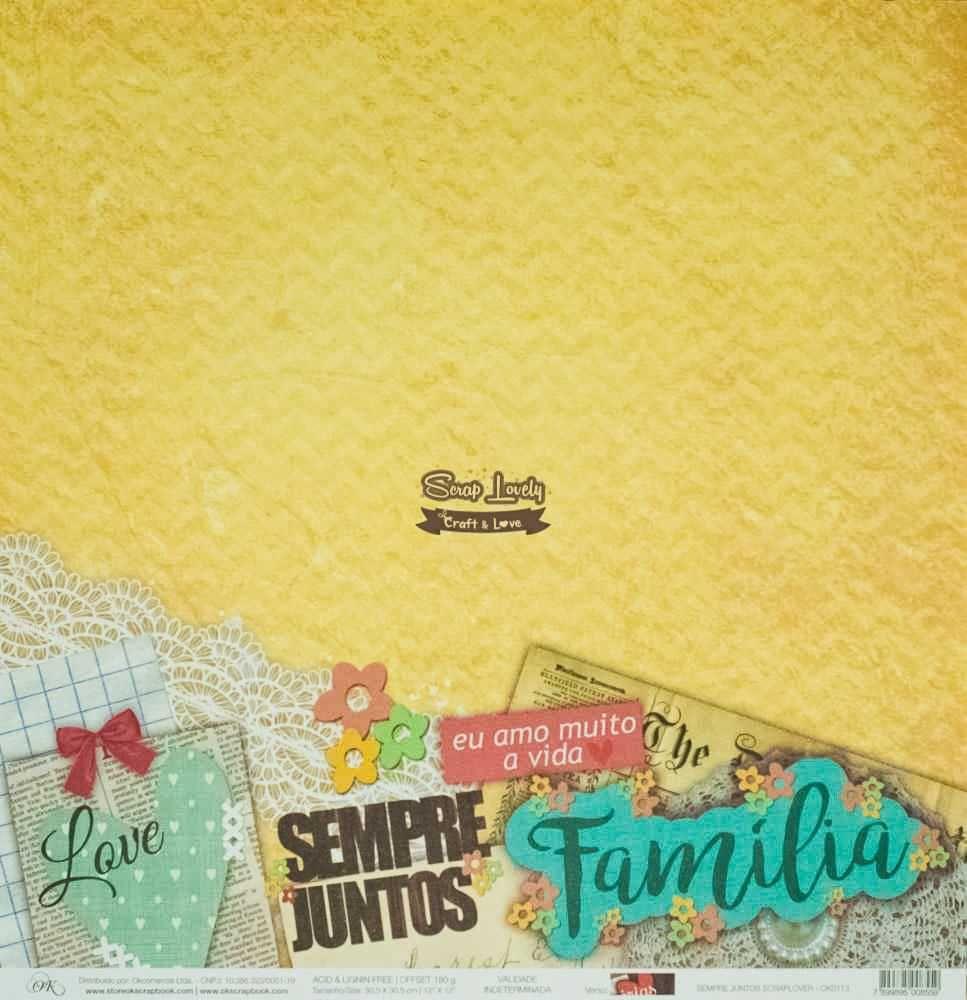 Papel Scrapbook Scraplover Sempre Juntos - OK Scrapbook