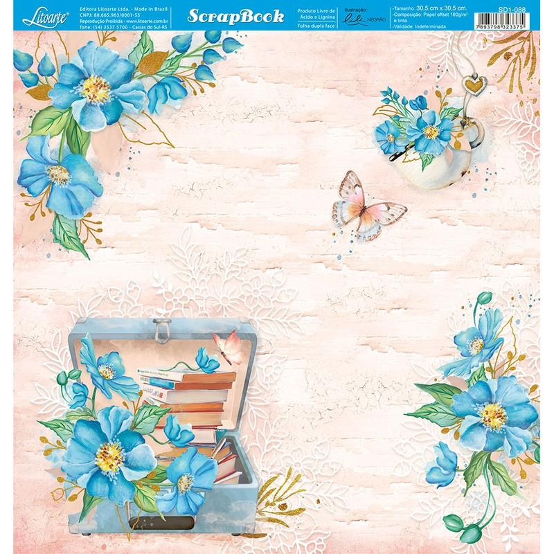 Papel Scrapbook  SD1-088 - Litoarte
