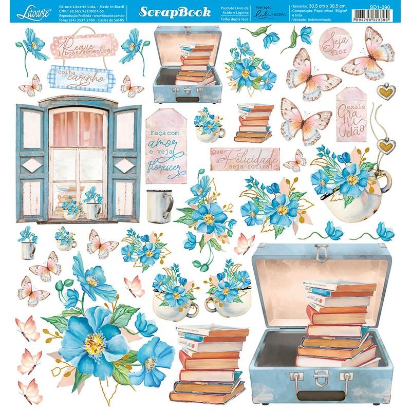 Papel Scrapbook  SD1-090 - Litoarte
