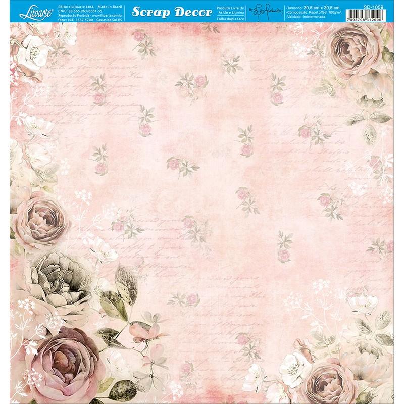 Papel Scrapbook  SD-1059 - Litoarte