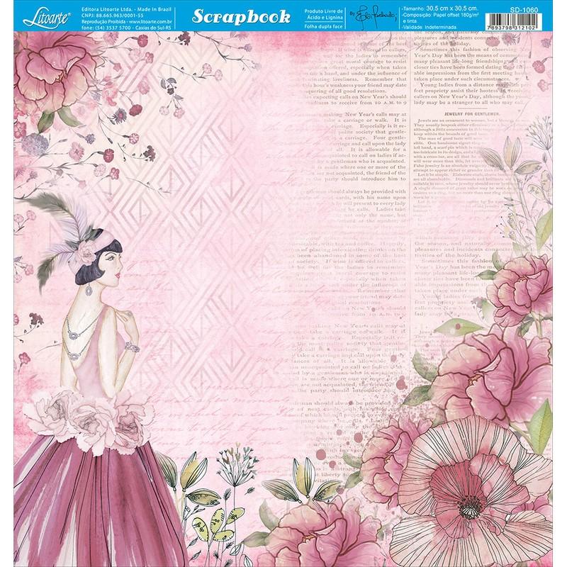Papel Scrapbook  SD-1060 - Litoarte