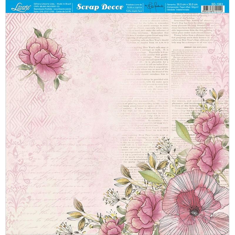 Papel Scrapbook  SD-1061 - Litoarte