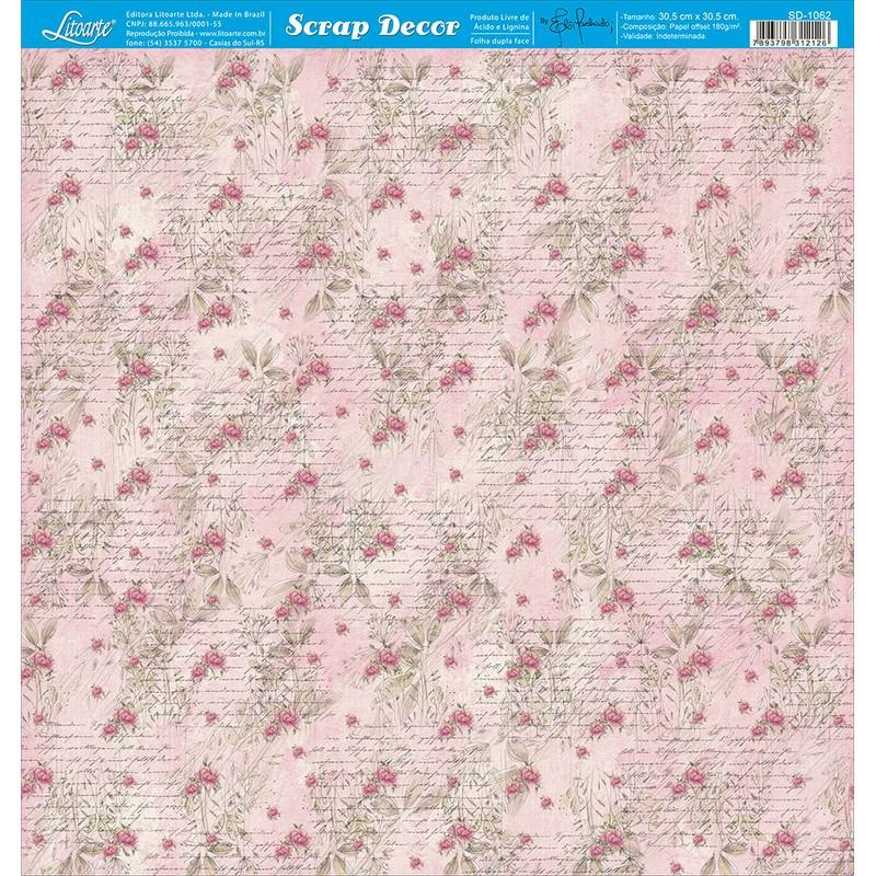 Papel Scrapbook  SD-1062 - Litoarte