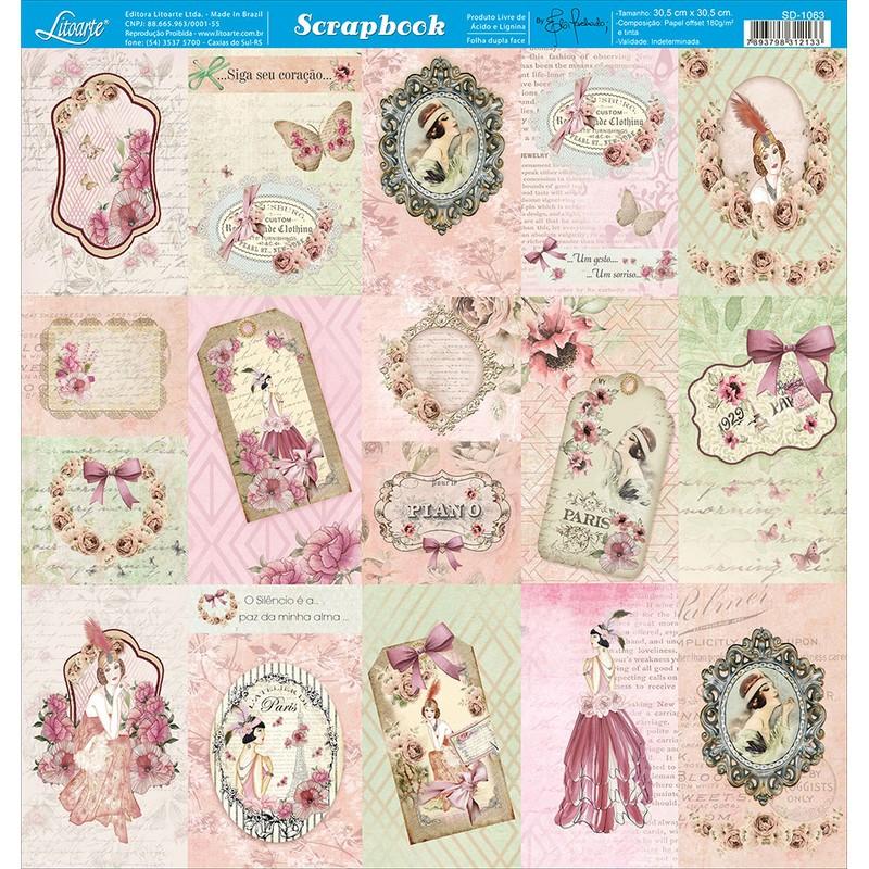 Papel Scrapbook  SD-1063 - Litoarte