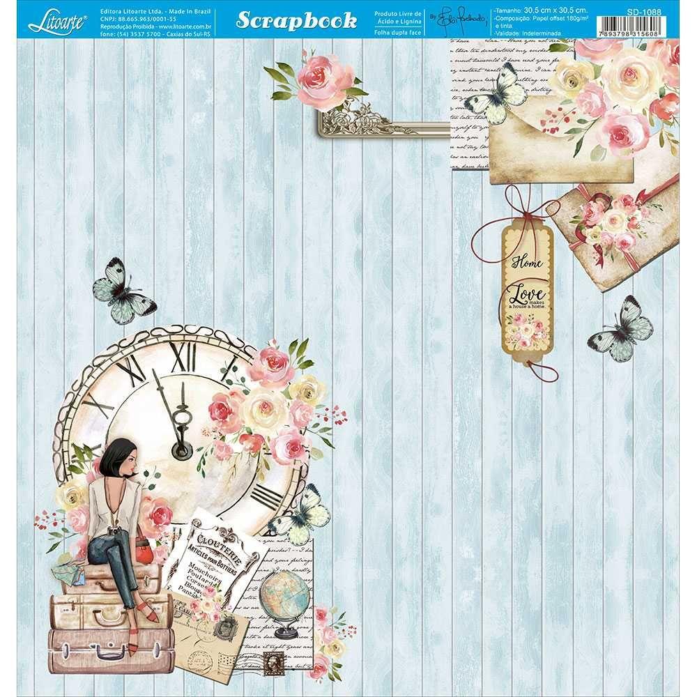 Papel Scrapbook SD-1088 - Litoarte