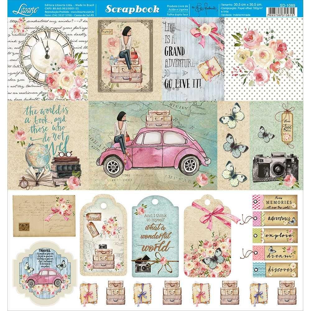 Papel Scrapbook SD-1089 - Litoarte
