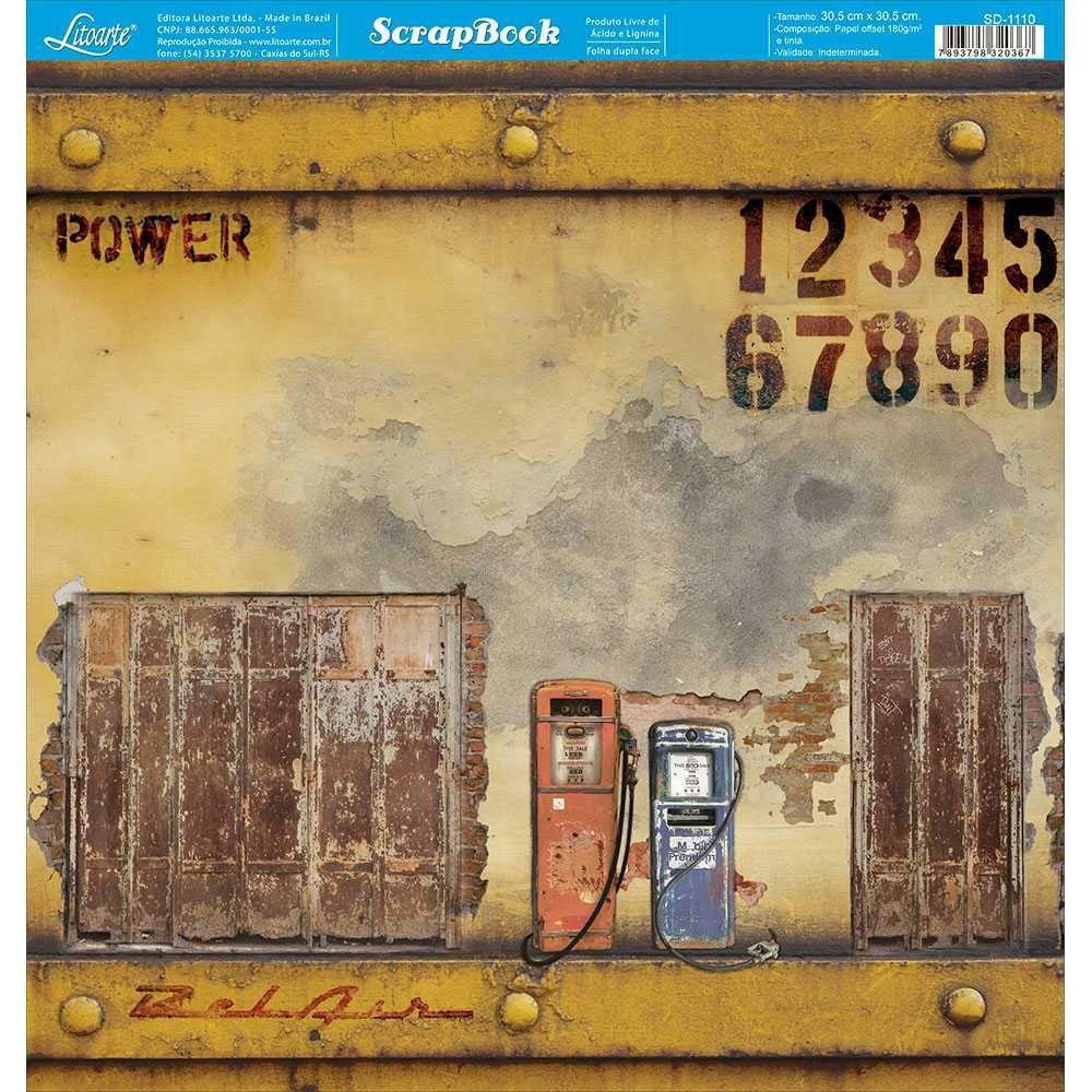 Papel Scrapbook SD-1110 - Litoarte