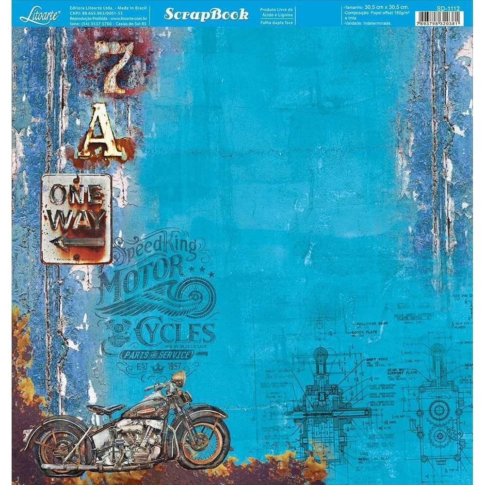 Papel Scrapbook SD-1112 - Litoarte