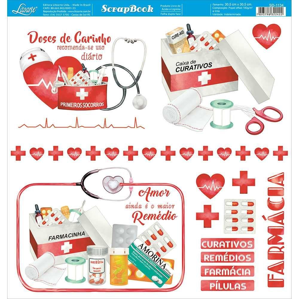 Papel Scrapbook SD-1134 - Litoarte