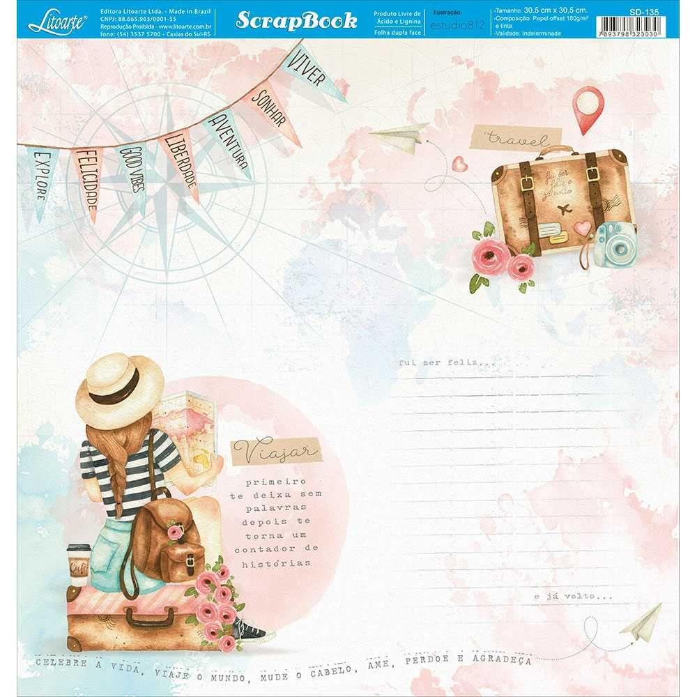 Papel Scrapbook SD-1135 - Litoarte