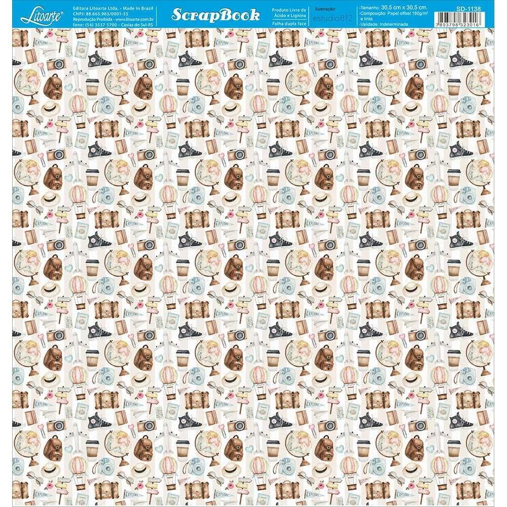 Papel Scrapbook SD-1138 - Litoarte